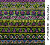 bright seamless ethnic ornament.... | Shutterstock .eps vector #550130659