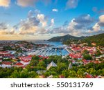saint barthelemy skyline and... | Shutterstock . vector #550131769