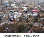 gypsy slum in belgrade  serbia  ... | Shutterstock . vector #550135045
