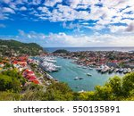 Small photo of Gustavia, Saint Barthelemy skyline in the Caribbean.