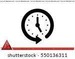 clock icon vector.   Shutterstock .eps vector #550136311