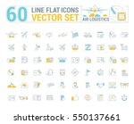 vector graphic set. icons in... | Shutterstock .eps vector #550137661