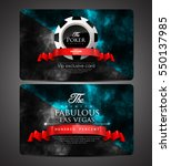 casino card design   vintage... | Shutterstock .eps vector #550137985
