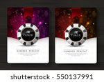 casino card design   vintage... | Shutterstock .eps vector #550137991