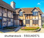 stratford upon avon  uk  ... | Shutterstock . vector #550140571