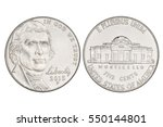 Five Cents Nickel Us Coin  Yea...