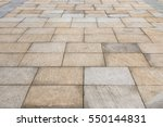 street tiled stone pavement as... | Shutterstock . vector #550144831