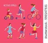 summer activities for kids.... | Shutterstock .eps vector #550147531