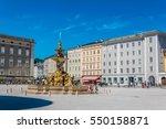 beautiful view of residenzplatz ... | Shutterstock . vector #550158871
