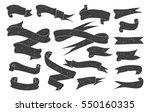 Big Set of Hand Drawn Ribbon / Banner. Banner, Ribbon & Flag Design Element. Vector Illustration | Shutterstock vector #550160335