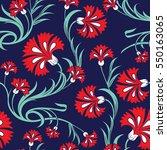 beautiful stylized carnations... | Shutterstock .eps vector #550163065