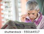 old senior woman having... | Shutterstock . vector #550164517