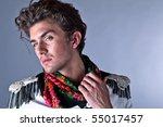 portrait of beautiful man in... | Shutterstock . vector #55017457
