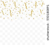 golden confetti falling on... | Shutterstock .eps vector #550180891