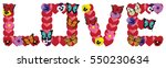 vector illustration of love... | Shutterstock .eps vector #550230634