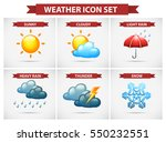 weather icon set with many...