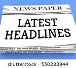 latest headlines newspaper... | Shutterstock . vector #550233844