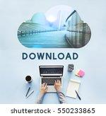 download cloud storage back up   Shutterstock . vector #550233865