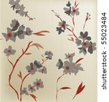 japanese  style pattern   Shutterstock .eps vector #55023484