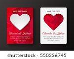 wedding invitation cards... | Shutterstock .eps vector #550236745