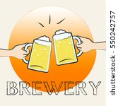 brewery beers glasses shows... | Shutterstock . vector #550242757