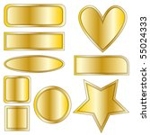 beautiful golden metal buttons  ... | Shutterstock . vector #55024333