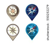 cool compass travel pinned map... | Shutterstock .eps vector #550252279