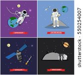 set of space mission ... | Shutterstock . vector #550254007