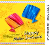 illustration of makar sankranti ... | Shutterstock .eps vector #550262371