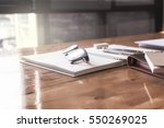 glasses on the table with the... | Shutterstock . vector #550269025