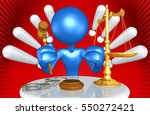 law legal concept with the... | Shutterstock . vector #550272421