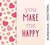hearts card  can be used for... | Shutterstock .eps vector #550274041