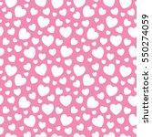 hearts seamless pattern...   Shutterstock .eps vector #550274059