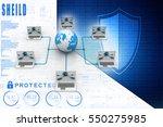 computer network 3d rendering | Shutterstock . vector #550275985