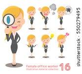 blonde female office work... | Shutterstock .eps vector #550279495