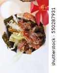 fried shirauo california or... | Shutterstock . vector #550287931