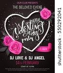 vector happy valentines day... | Shutterstock .eps vector #550292041