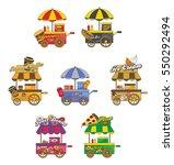 food and drink vendor cart | Shutterstock . vector #550292494