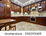 kitchen with appliances and a... | Shutterstock . vector #550293409