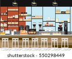 the coffee shop in the... | Shutterstock .eps vector #550298449