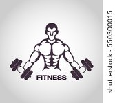 fitness logo vector icon design | Shutterstock .eps vector #550300015