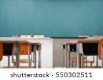 school classroom with blackboard   Shutterstock . vector #550302511