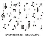 music notes | Shutterstock . vector #55030291
