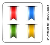 silver and colored bookmark... | Shutterstock . vector #550305085