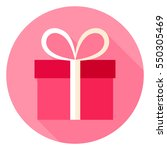 present circle icon. flat...   Shutterstock .eps vector #550305469