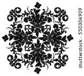 vintage baroque ornament retro... | Shutterstock .eps vector #550306909