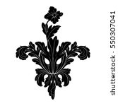 vintage baroque ornament retro... | Shutterstock .eps vector #550307041
