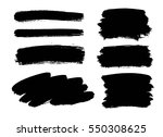 set of black paint  ink brush... | Shutterstock .eps vector #550308625