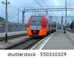 suburban electric train...   Shutterstock . vector #550310329