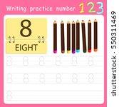 worksheet writing practice... | Shutterstock .eps vector #550311469
